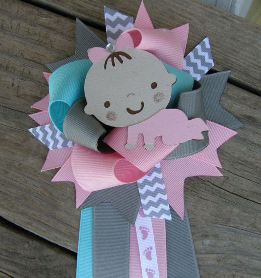 Baby Shower Corsage And Boutonniere Baby Shower Pinterest