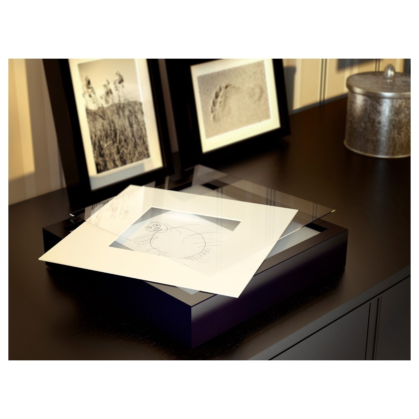 details zu ikea bilderrahmen ribba passepartout rahmen 23x23cm f r 13x13 cm bilder neu. Black Bedroom Furniture Sets. Home Design Ideas