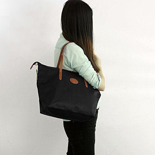 ecosusi sac de plage nylon sac a main de cour pour femme sac fourre tout sac caba sac pour les. Black Bedroom Furniture Sets. Home Design Ideas