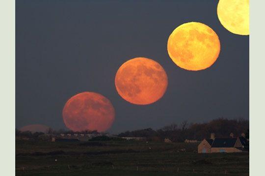 Lever de pleine lune quelques minutes apr s le coucher du soleil la pleine lune se l ve sur - Heure de lever et coucher de la lune ...
