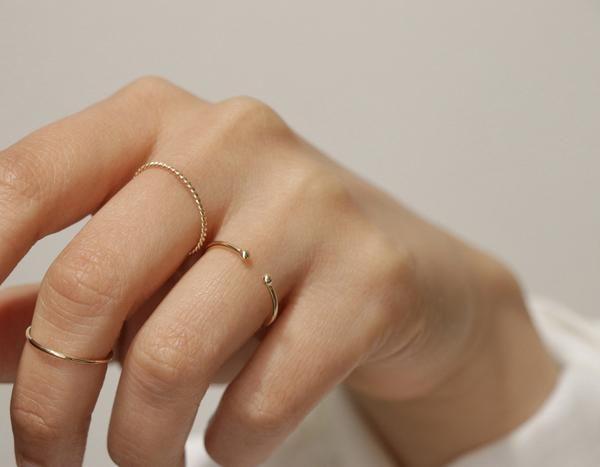 666980e87061f8 Dot Cuff Ring in 2019 | shikha | Rings, White gold rings, Jewelry