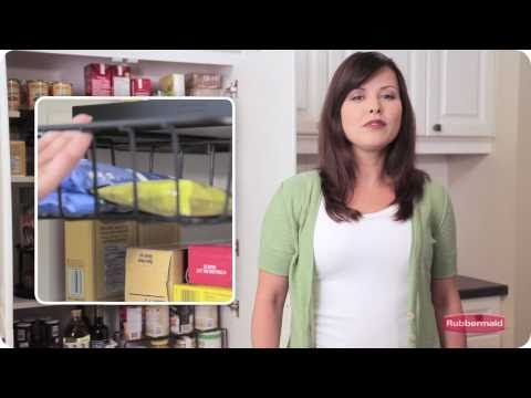 Pantry Organization Tips     Can't find the salt in that mess in your pantry? How about the peanut butter? In this How-To video from Rubbermaid, Find out how to get your pantry in order once and for all, making it easier to find and reach just what you need. Presented by pelegproperties.com