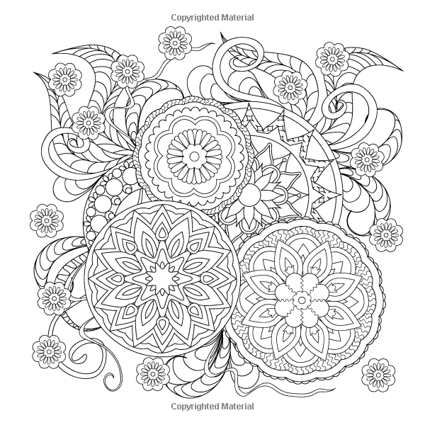 Amazon Com Adult Coloring Book Designs Stress Relieving Patterns Mandalas Cats Flowers Designs Coloring Books Summer Coloring Pages Flower Coloring Pages