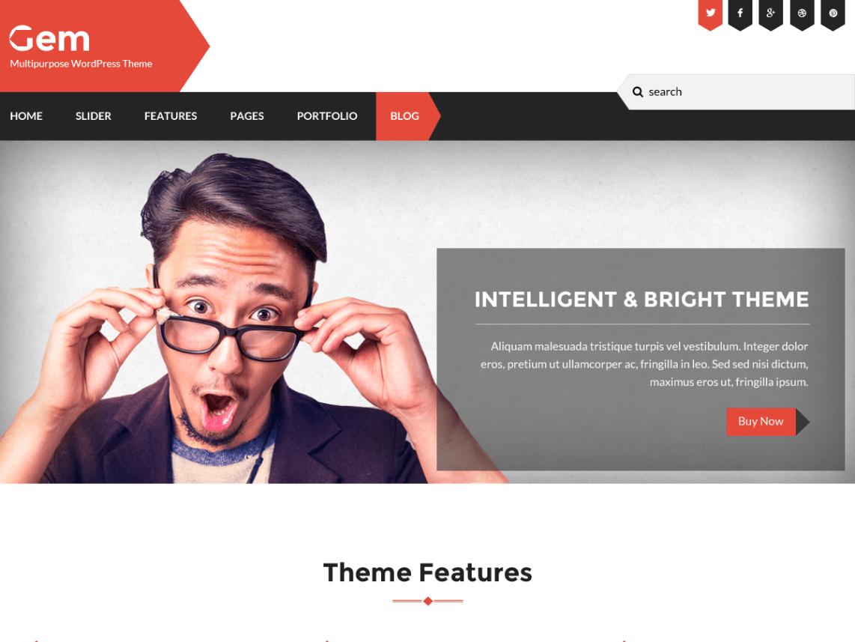 Gem — Free WordPress Themes   Free WordPress Themes   Pinterest ...