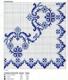 Bordo monocolore punto croce