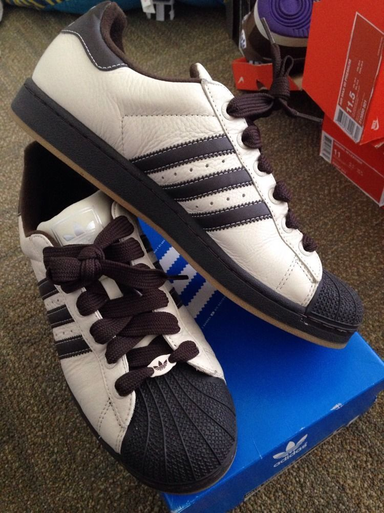 adidas superstar ii clay/brown leather trainers US 11.5 in Clothing, Shoes  & Accessories
