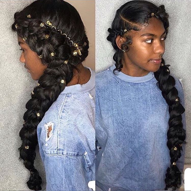 Hairstyles For Black Girls Fair ✨ For More Poppin' Ass Pins Follow Imadeyoureadthis ✨  Hair