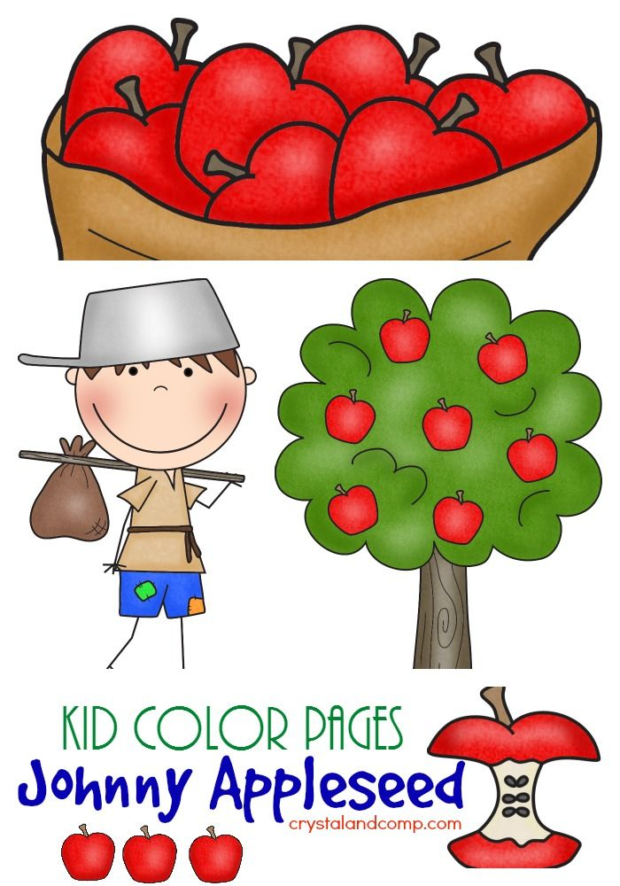 Johnny Appleseed Coloring Pages With Handwriting Practice Preschool Apple Theme Coloring For Kids Apple Activities