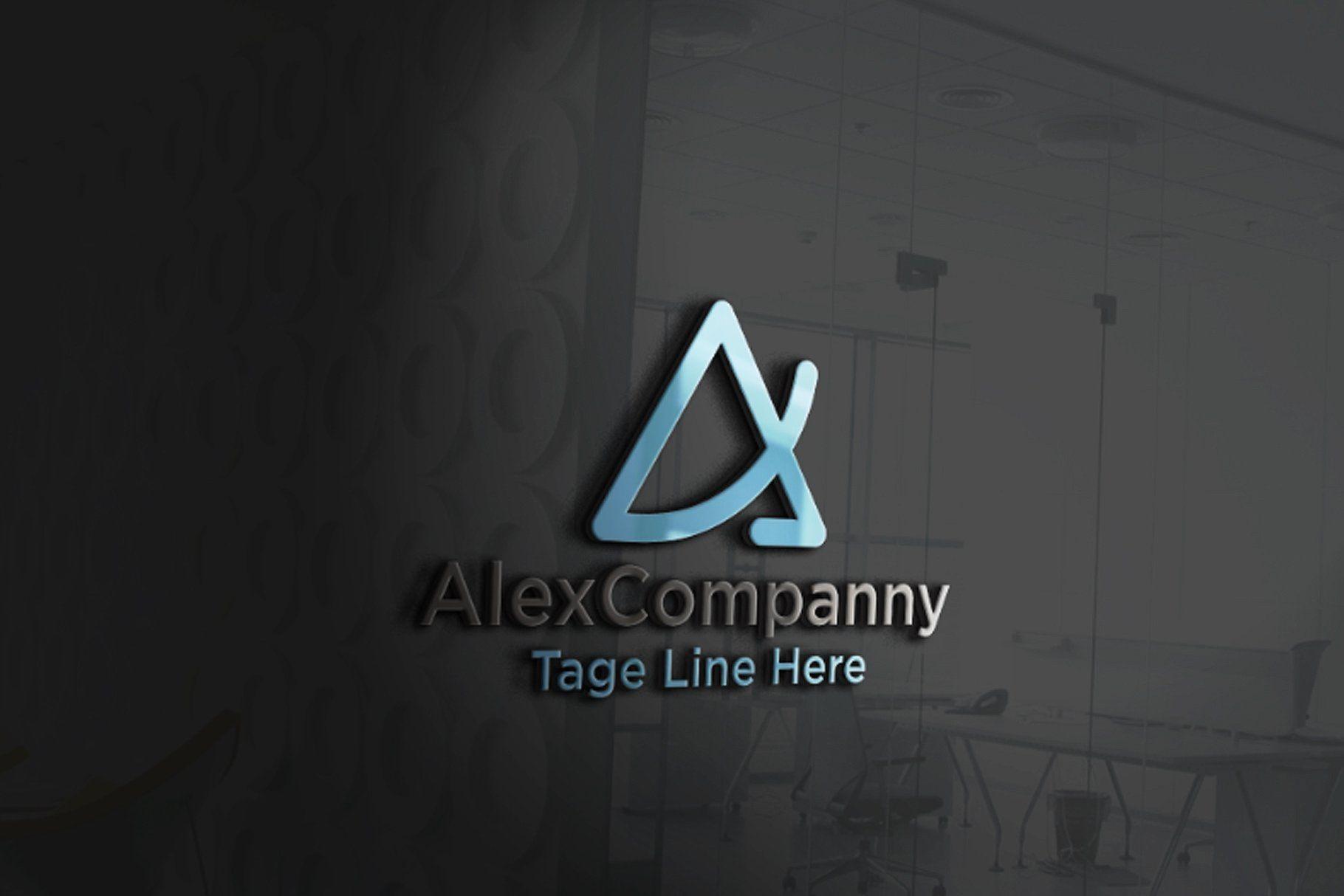 Alex Company Letter A Lettering Logo Templates Creative Market