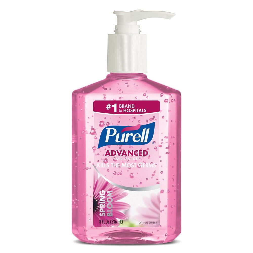 Purell Spring Bloom Advanced Hand Sanitizer 8 Fl Oz Hand