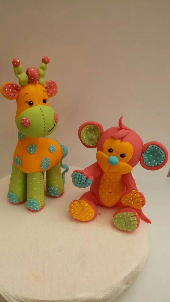 giraffe und affe kreatives backen pinterest fondant fondant figuren und kuchen. Black Bedroom Furniture Sets. Home Design Ideas
