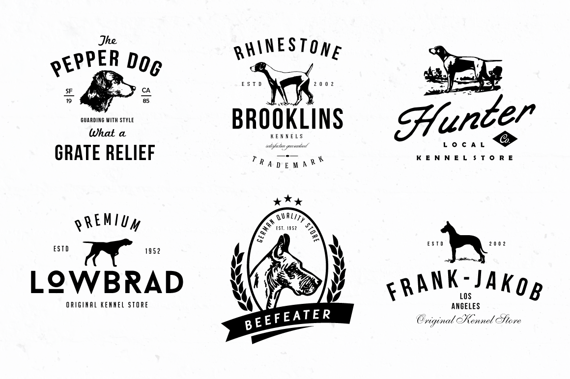 Dog Kennel Logo Badges by lovepower on Creative Market ... - photo#11