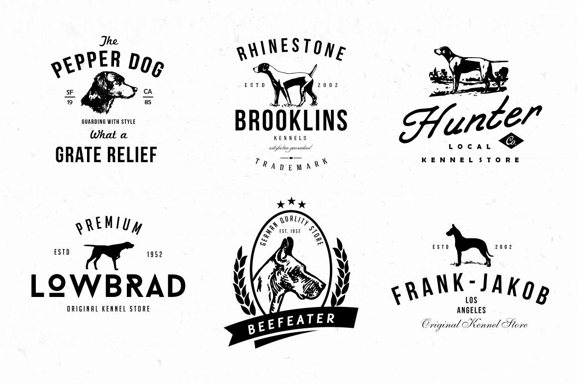 Dog Kennel Logo Badges by lovepower on Creative Market
