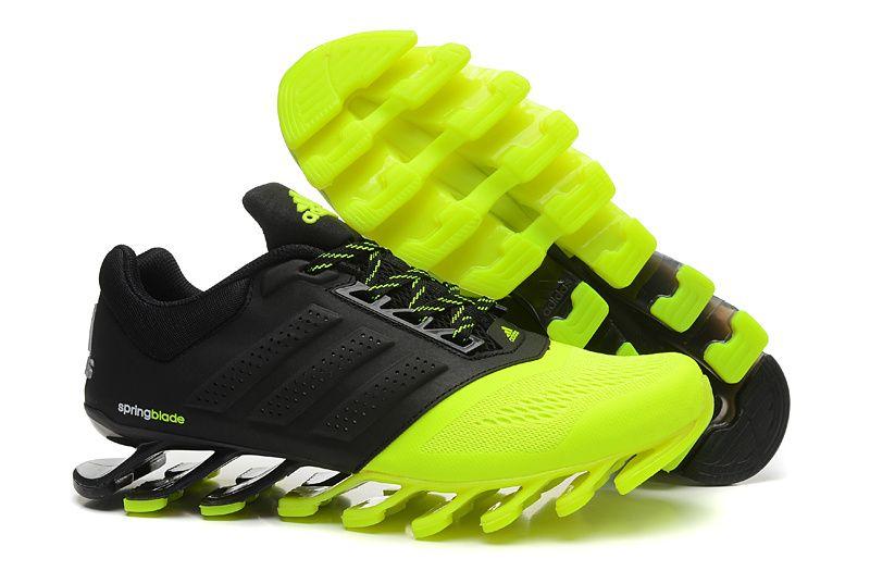 Men Hottest Adidas Springblade 2015 Black Green Running Shoes