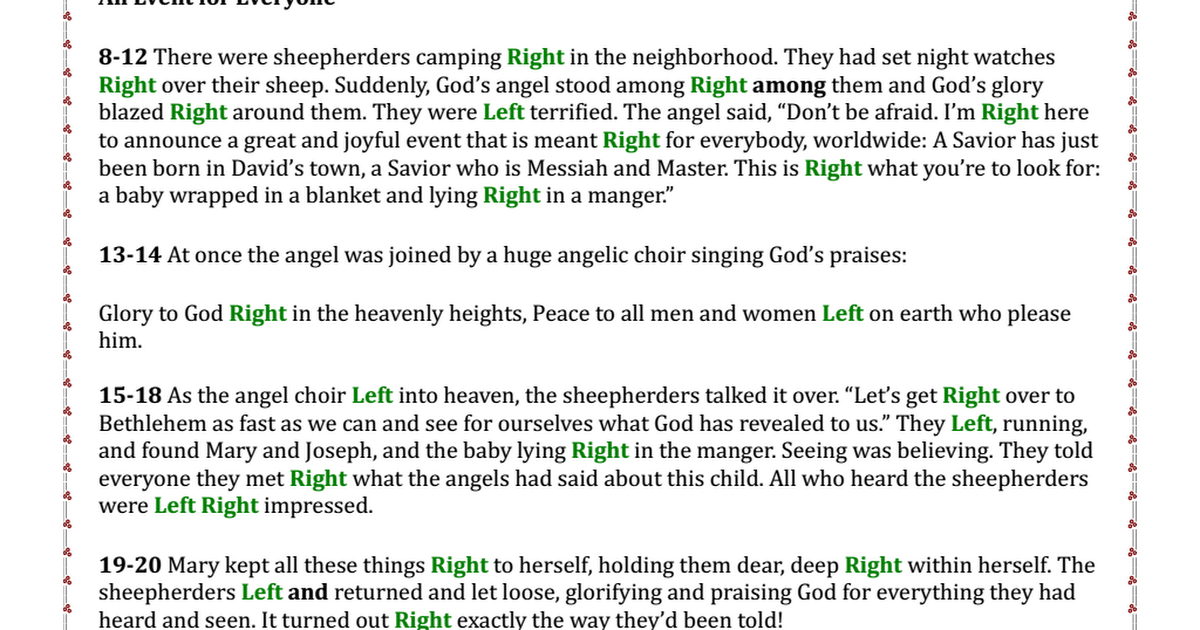 Luke 2 LeftRight Gift Exchange Game.pdf SmellingCoffee