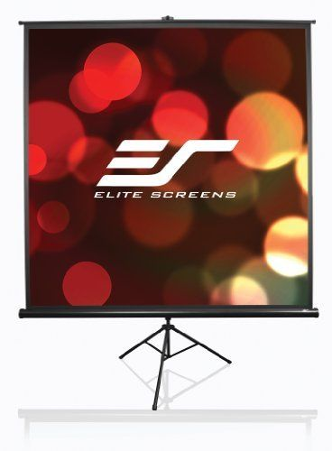 Elite Screens T120uwh Tripod Portable Projection Screen 120 Inch Diag 16 9 Viewable 59 H X 104 W Black Projection Screen Projector Screen Projection Screens