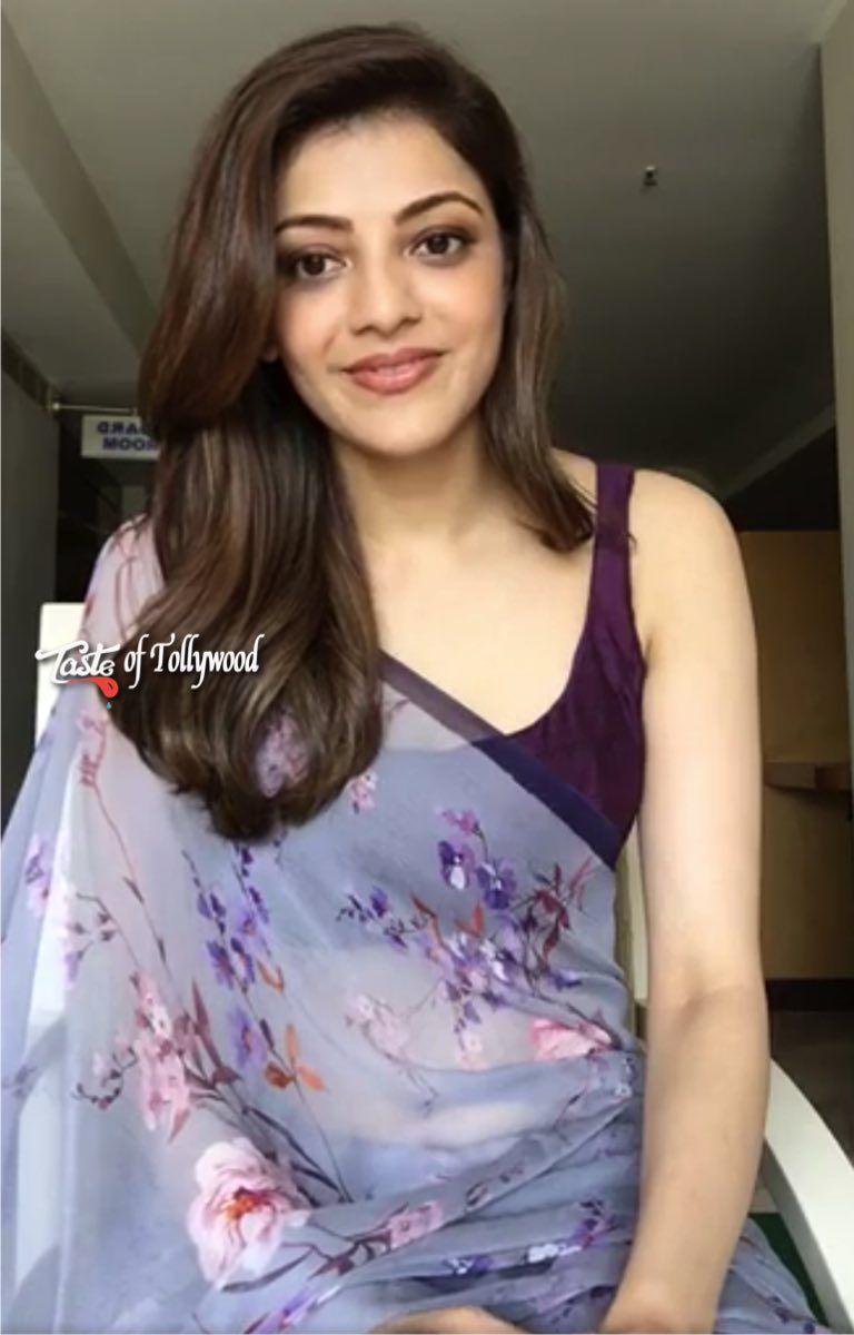 Get Kajal Agarwal Beautiful Saree On Facebook Live ,Kajal -8195
