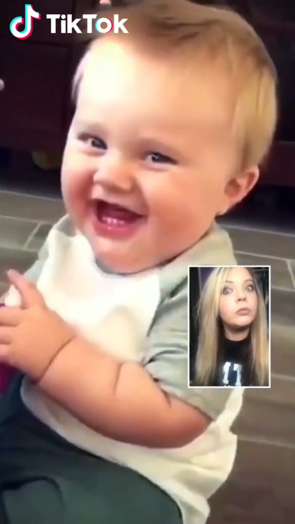 Do You Love Baby Laughs Check Out The Amazing New Reacttothis Feature Only On Tiktok Watch More Awes Video Baby Laughing Video Funny Babies Cute Funny Baby Videos