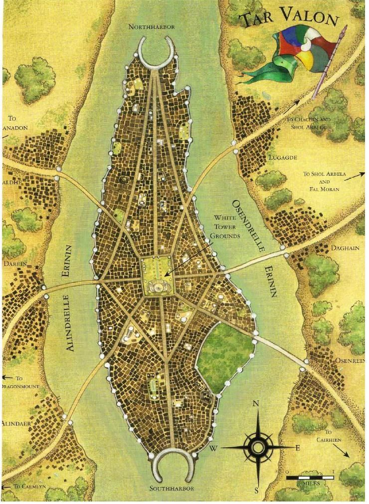 Tar valon maps pinterest robert jordan wheels and fantasy map tar valon from robert jordans the wheel of time gumiabroncs Image collections