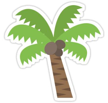 Emoji palm tree sticker by roarr