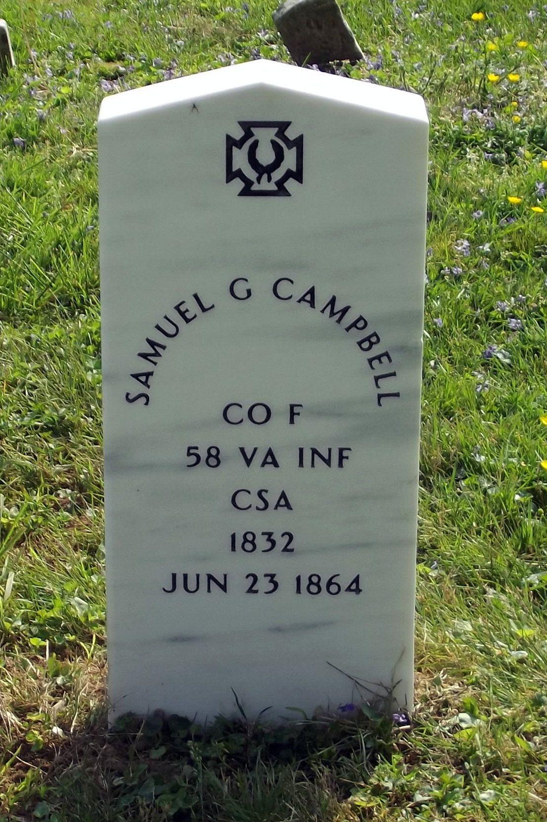 Samuel G Campbell (1833-1864) - Find A Grave Memorial | Civil War