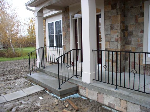 Wrought iron porch railings custom metal
