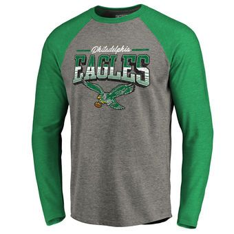 c72a5b22 Men's NFL Pro Line by Fanatics Branded Heathered Gray/Green ...