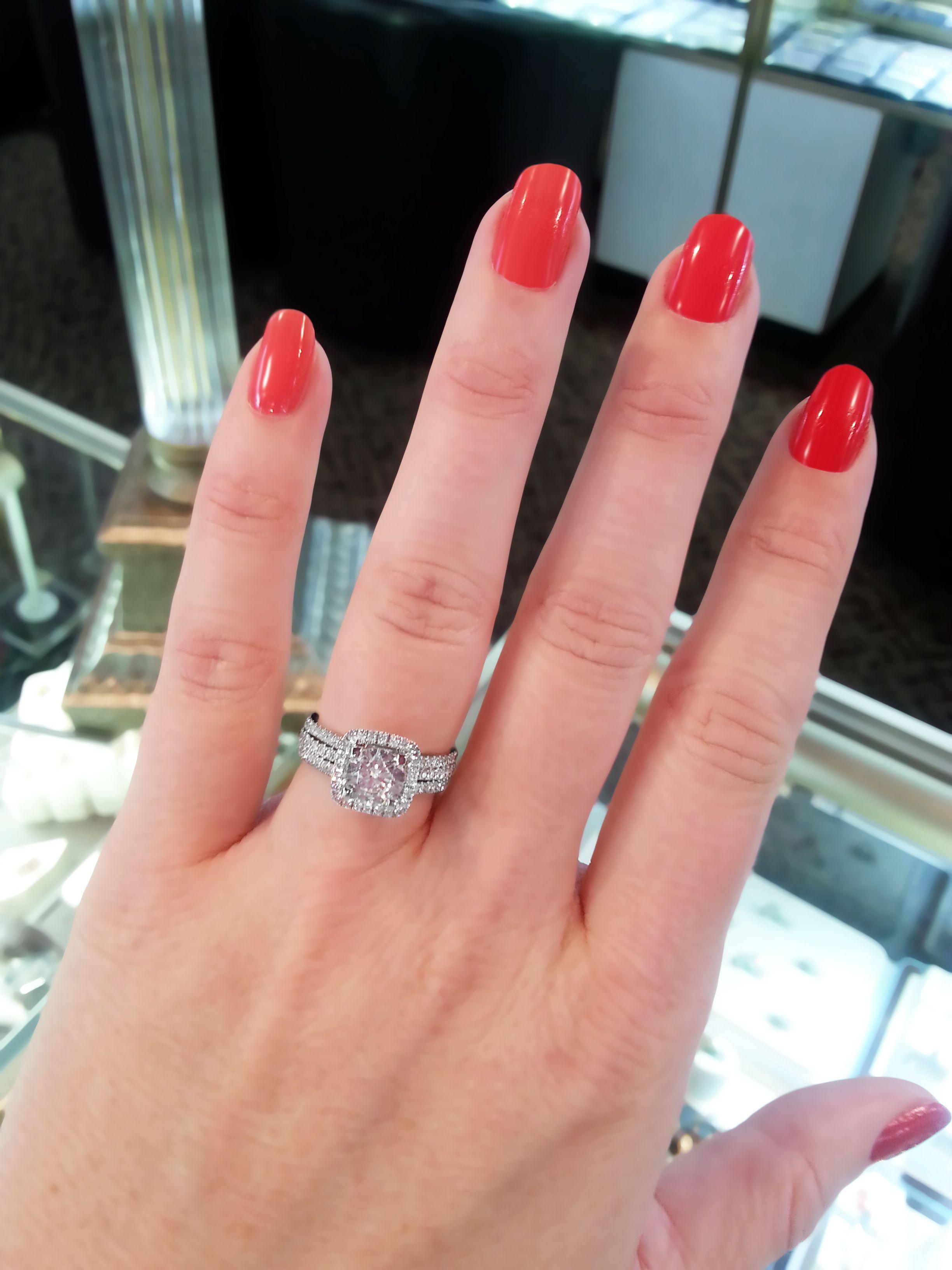 Simon G. engagement ring for 1.00 carat center diamond. | Diamond ...