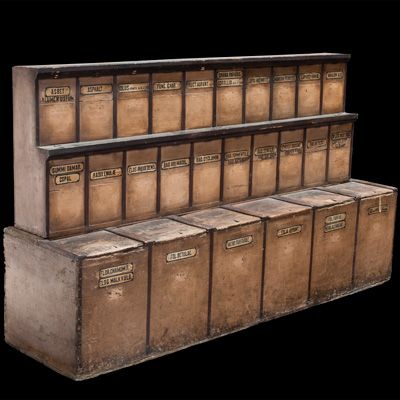 18th Century Apothecary Cabinet Unusual Storage Bin For Herbal Remedies  France Circa 1770 1780