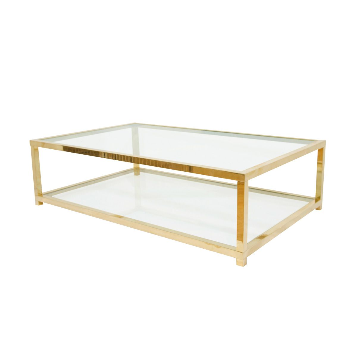 Glass coffee table - Coffee Table Two Tiered Brass And Glass Coffee Table Coffee Tables John Salibello Antique Brass