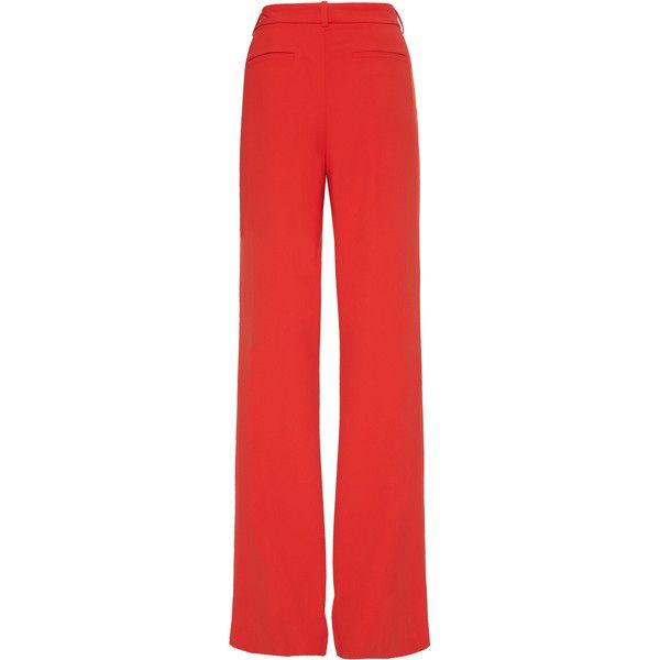Alice + Olivia Paulette Highwaist Pant (3.941.495 IDR) ❤ liked on Polyvore featuring pants, high waisted wide leg trousers, high waisted wide leg pants, red high waisted pants, wide leg pants and high-waisted wide leg pants
