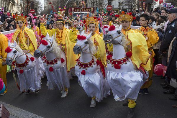 Nouvel An Chinois : défilés dans le quartier du Marais Copyright : Marc Verhille / Mairie de Paris