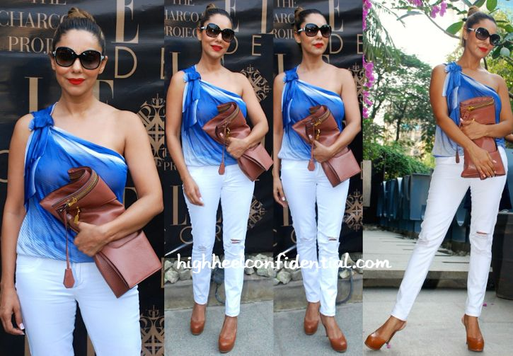 gauri khan at charcoal project event with tom fod clutch