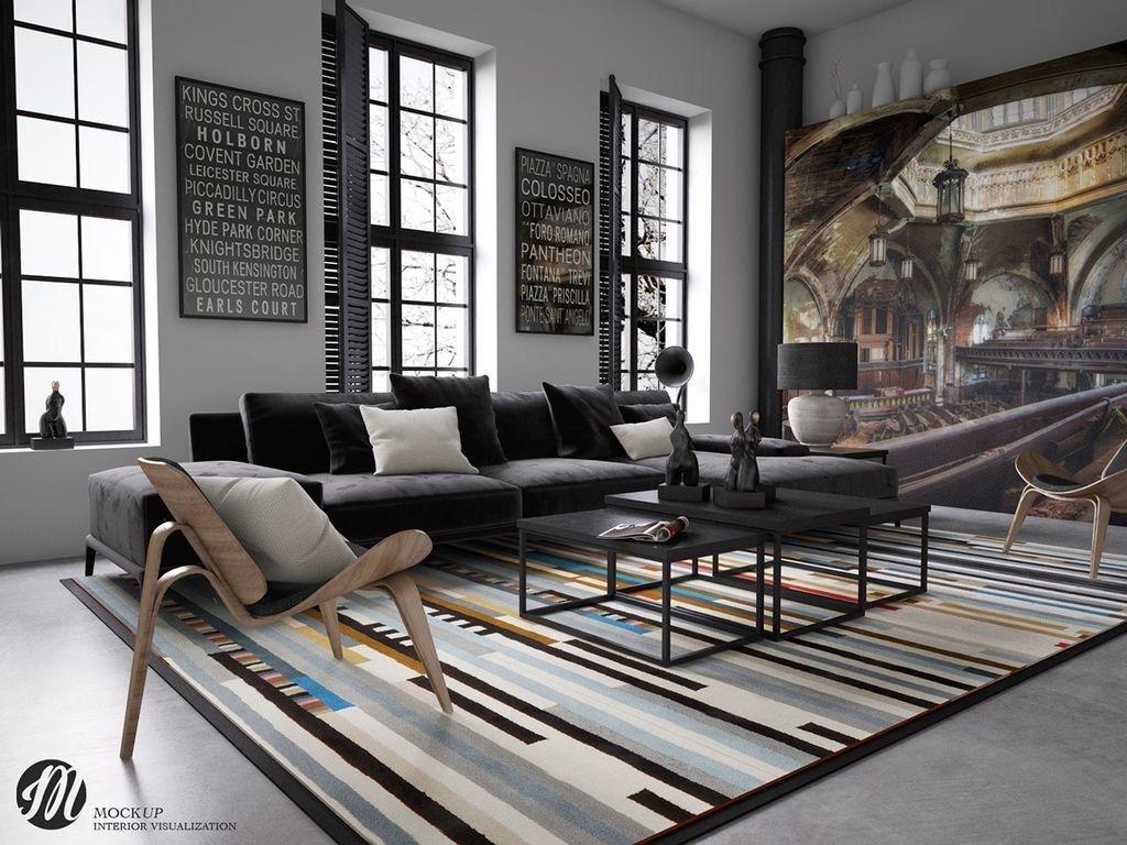 Elegant Loft Style Living Room Design Ideas For Winter 12 Loft Style Living Loft Style Living Room Rustic Industrial Living Room