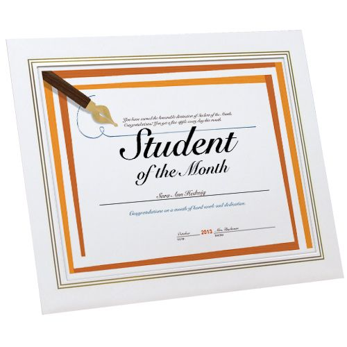 Certificate Easel Frame, Recycled Paper frame, white paper frame - Graduation Certificate Paper