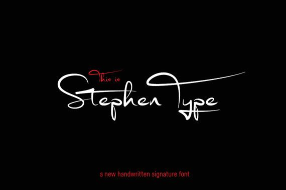 Signature Font Digital Font Stephen Type Font Handwriting Font Wedding Font Can Be Used For A Photography Logo Monogram Police D Ecriture Police Tatouage Police Ecriture Cursive