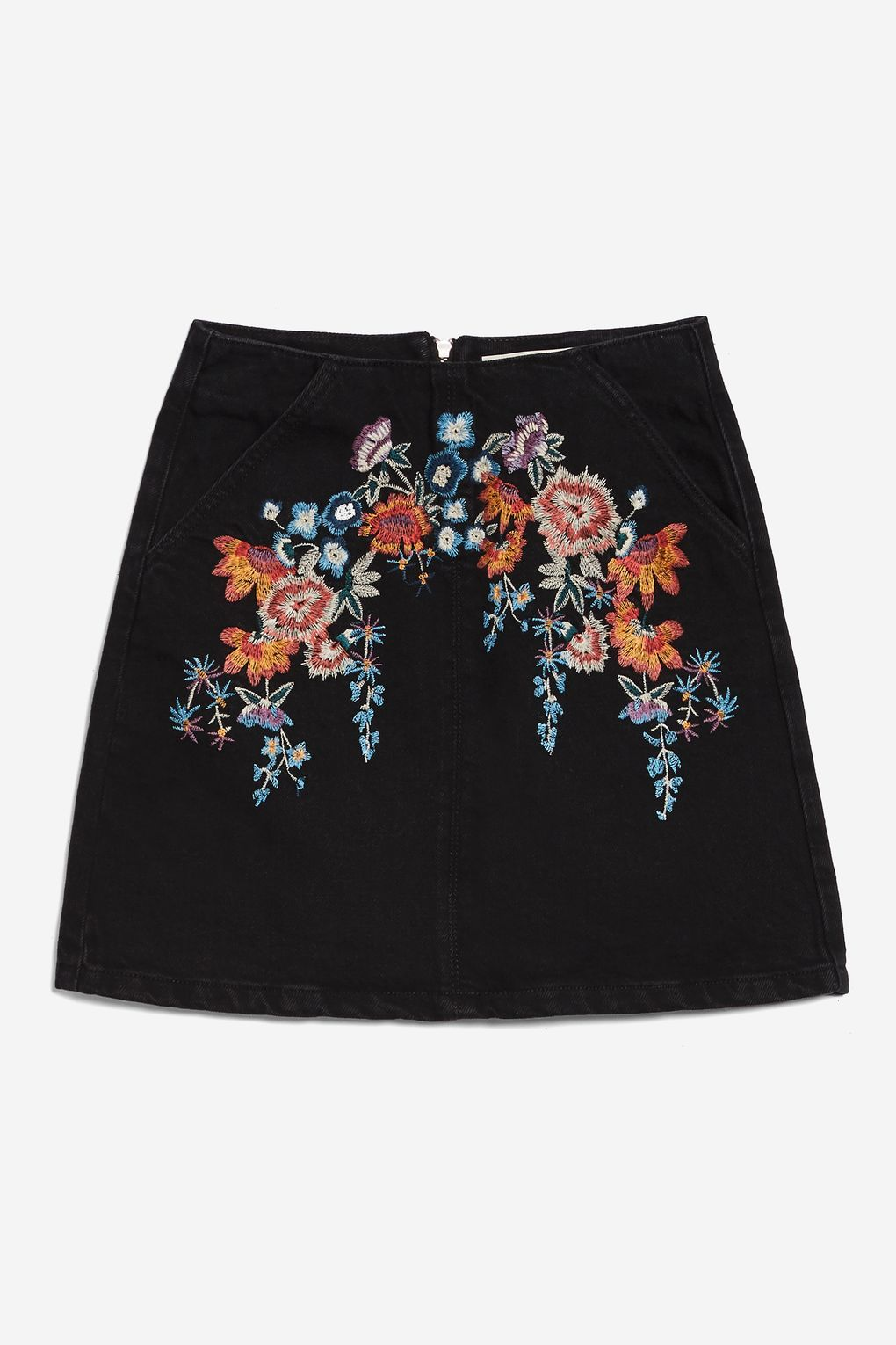 84b25bbbb5 MOTO Bright Floral Denim A-Line Skirt - New In Fashion - New In - Topshop  USA