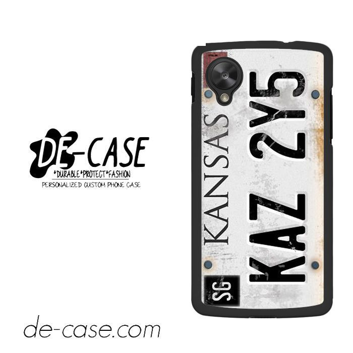 Personalized Vintage Supernatural License Plate Number For Google Nexus 5 Case Phone Case Gift Present YO