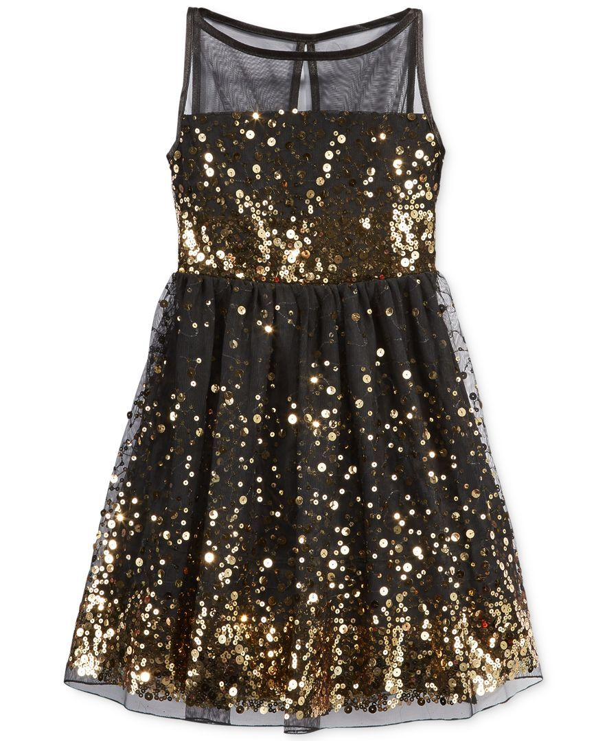 Ruby rox girlsu sequin illusion dress kids girls macyus