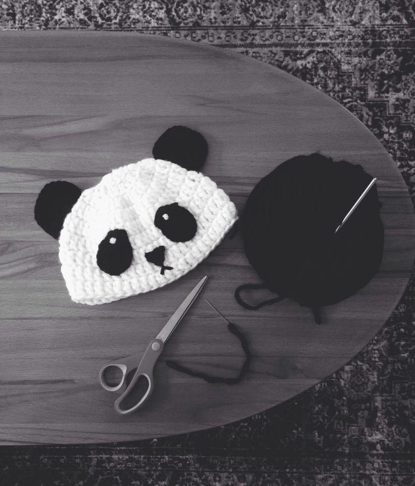 panda crochet hat #crochethat #pandahat | Amigurumi | Pinterest | Gorros