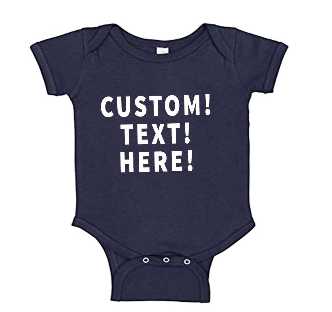Add Text or Personalize To Solid Color Baby Onesies ...