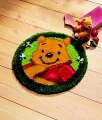 Vervaco Disney Winnie The Pooh Latch Hook Rug Kit Latch