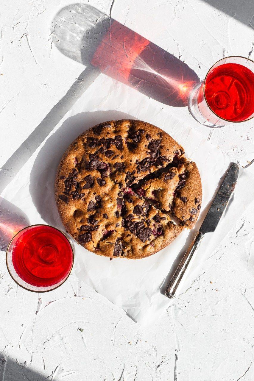 Dark chocolate raspberry cake glutenfree natteats