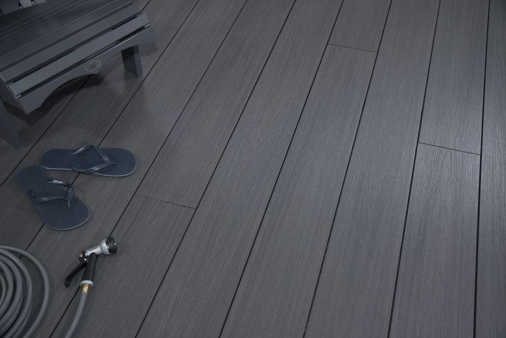 TruOrganics Composite Decking, Grey, 8ft Boards, Wide Plank