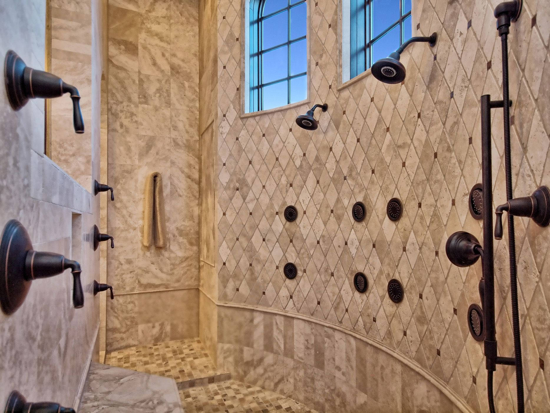 Luxury Walk In Showers custom built walk-in showers |  showerzbranek & holt custom