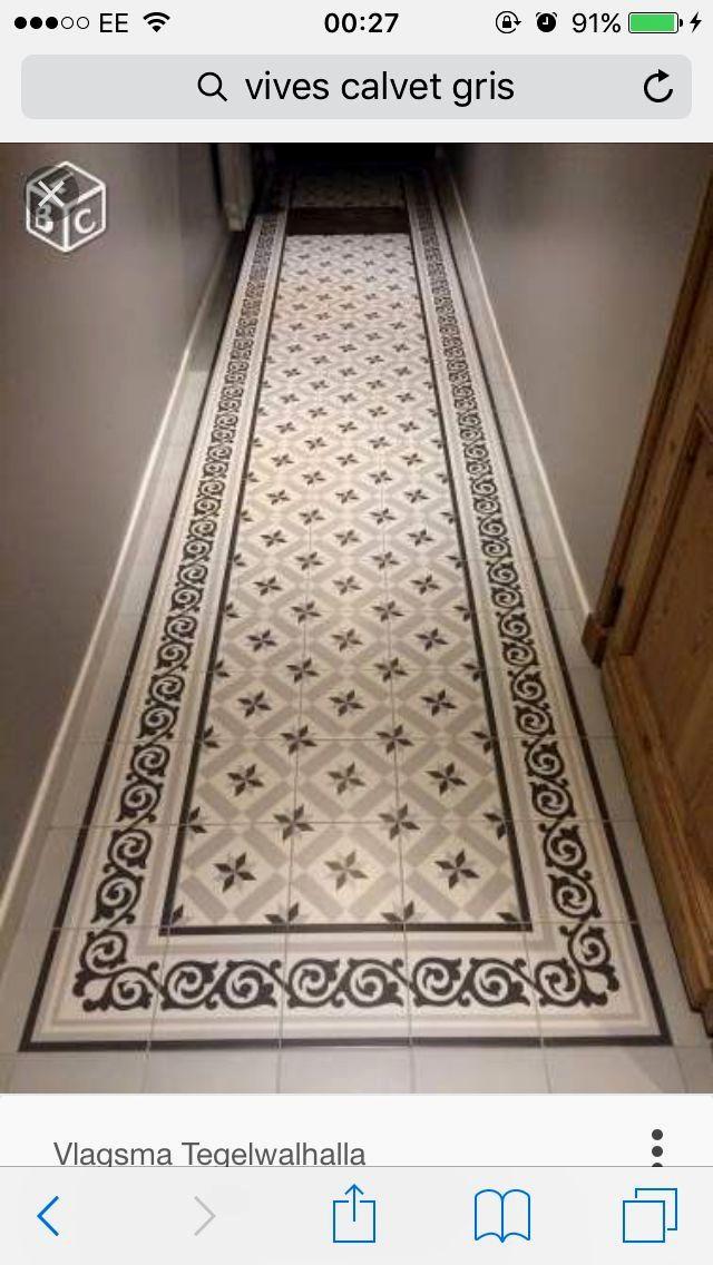 Pin151 Carrelage Couloir Sol Carreaux De Ciment Carreaux Ciment