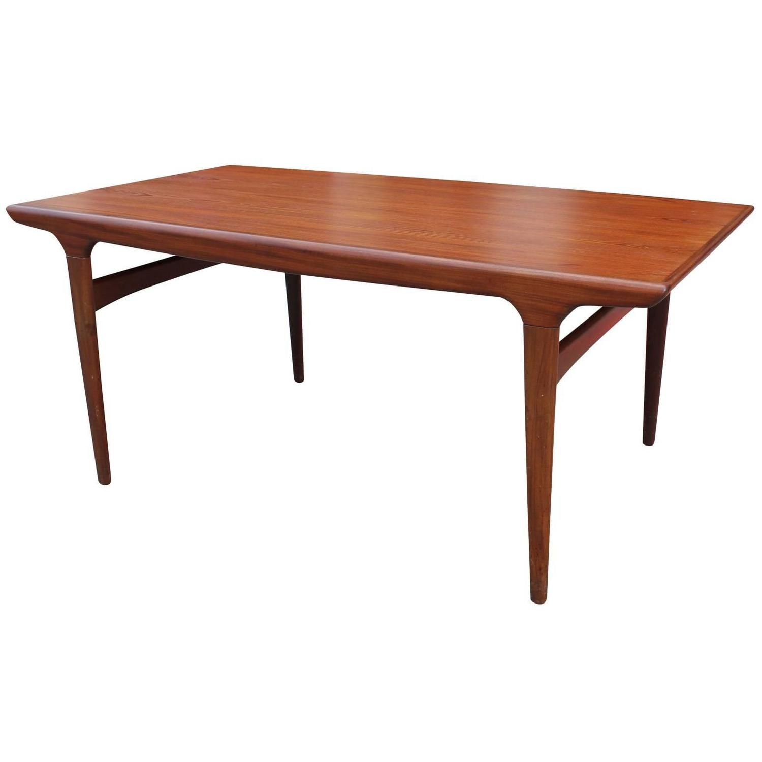 Elegant Danish Teak Dining Table With A Cantilevered Leaf  Teak Captivating Scandinavian Teak Dining Room Furniture Design Ideas