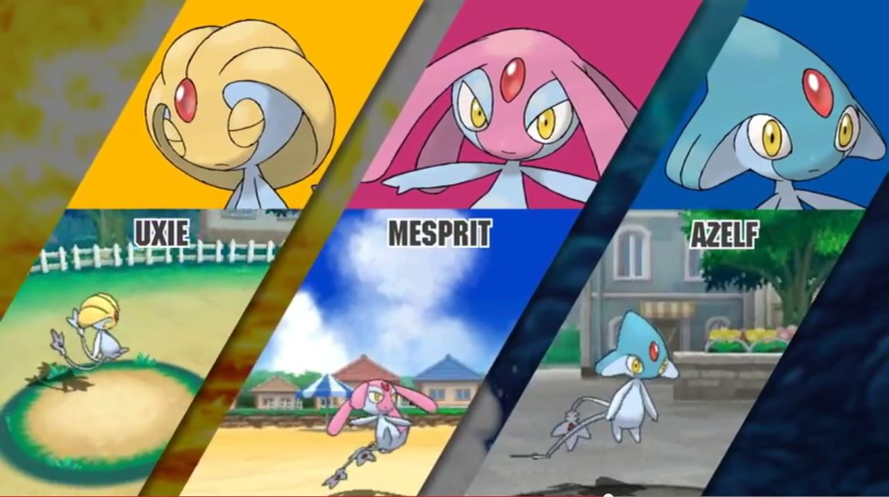 Uxie Mesprit And Azelf Will Catchable In Pokemon Omega