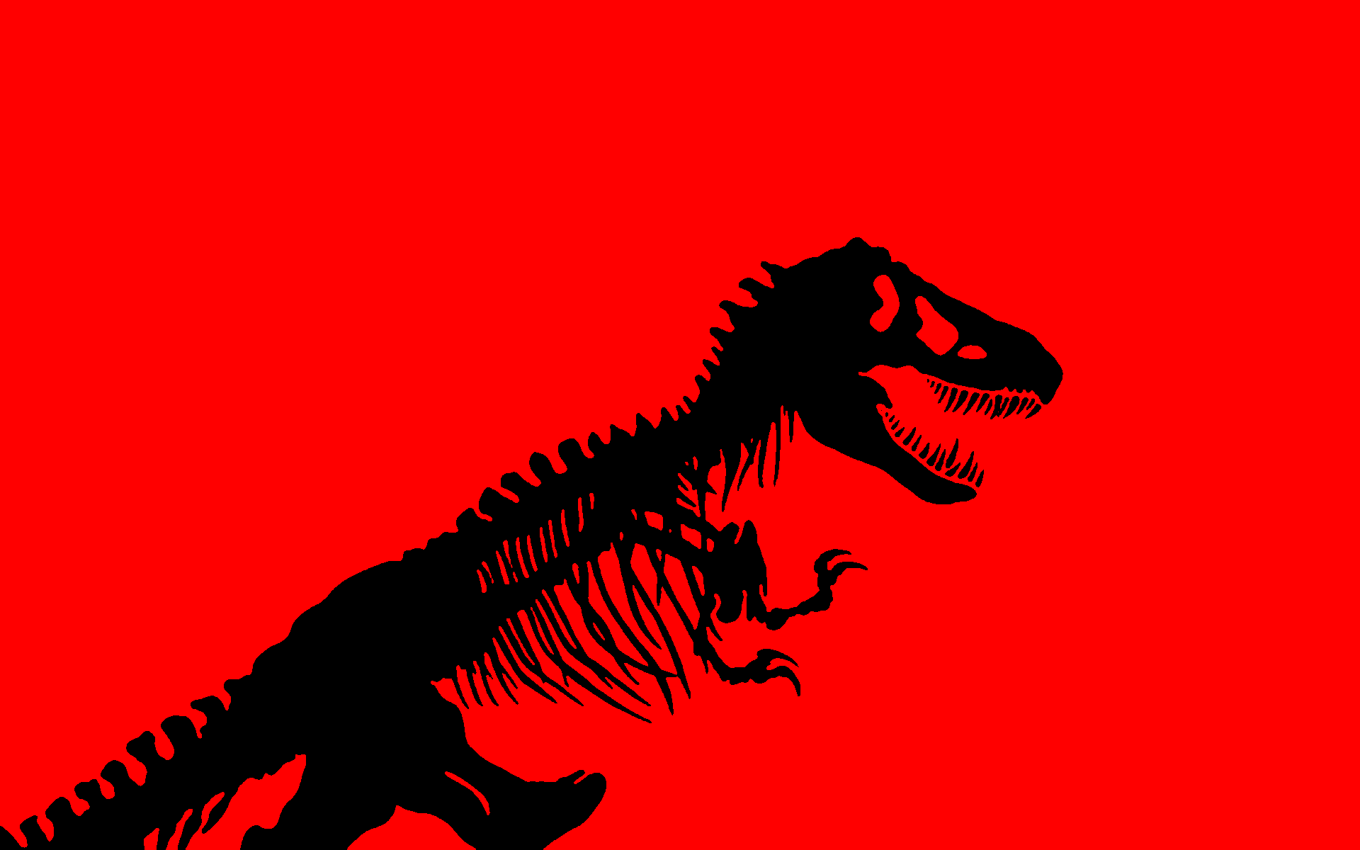 Cute Dino Wallpaper Red