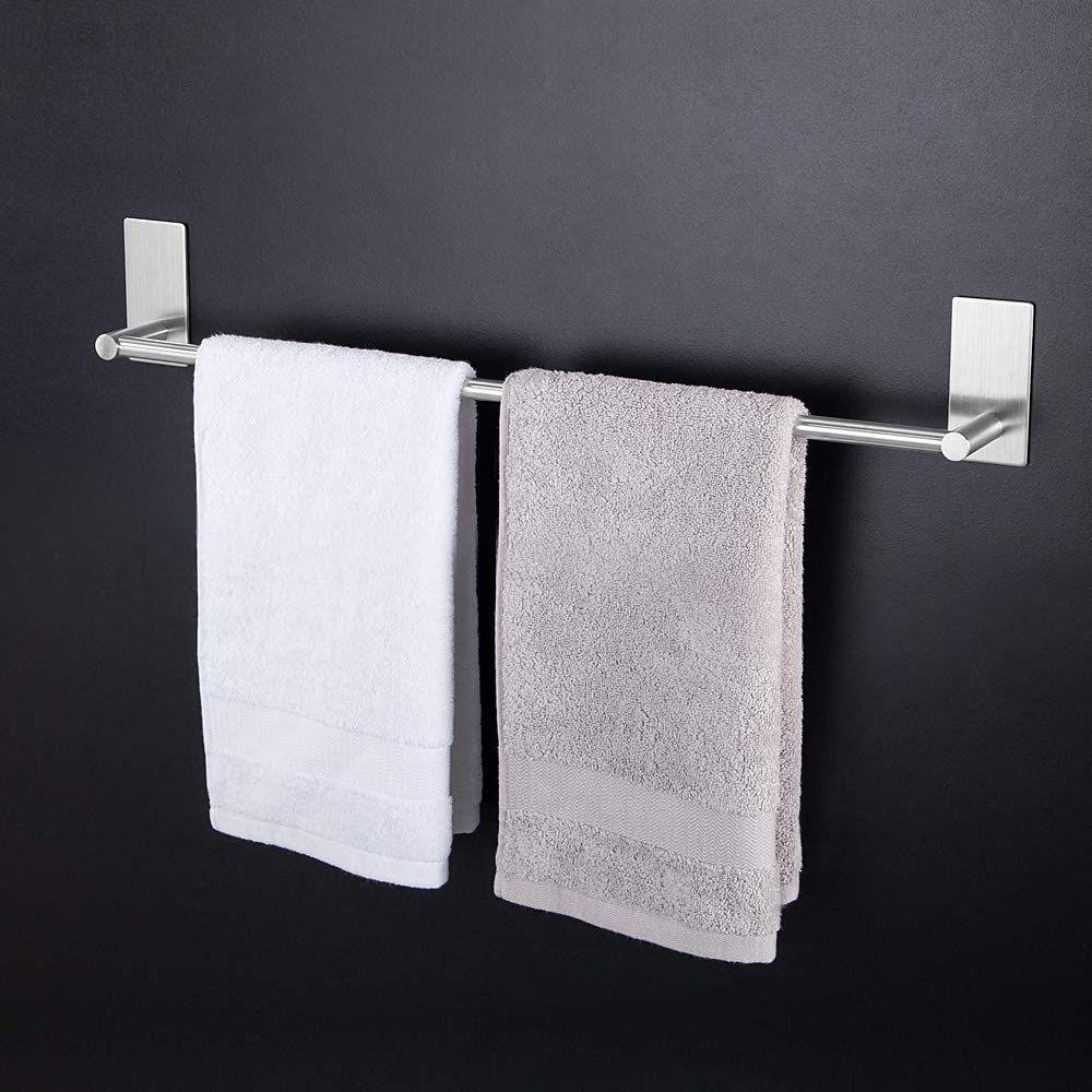 Kitlit Handtuchhalter Bad 43cm Handtuchstange Handtuchstander Wasserdicht Edelstahl Handtuchhaken Handtuchhalter Bad Badezimmer Mobel Handtuchstander